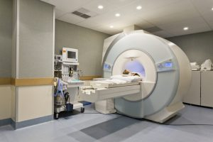 CT scanner in hospital with patient